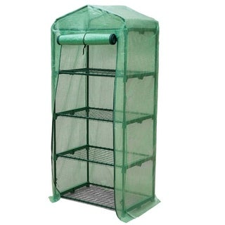 Link to GENESIS 4 Tier Portable Rolling Greenhouse with Opaque Cover Similar Items in Gardening