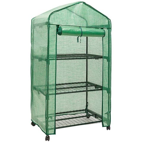 GENESIS 3 Tier Portable Rolling Greenhouse with Opaque Cover