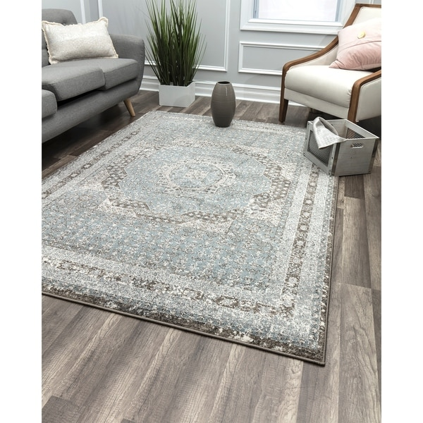 Eternal Grey Vintage Transitional Rug