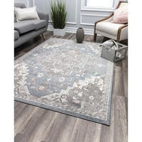 Noble Grace Blue Vintage Transitional Rug