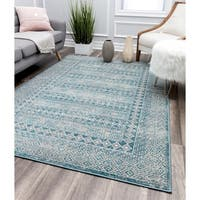 Blue-Grey Vintage Transitional Rug