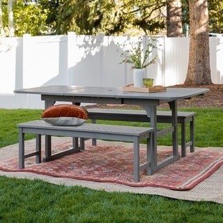 Havenside Home Hydaburg 3-piece Outdoor Extension Dining