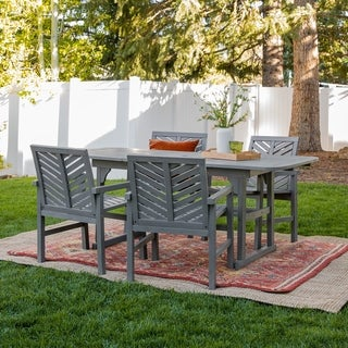 Havenside Home Hydaburg 5-piece Outdoor Extension Dining Set