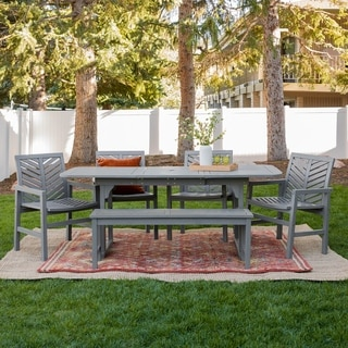 Havenside Home Hydaburg 6-piece Outdoor Extension Dining