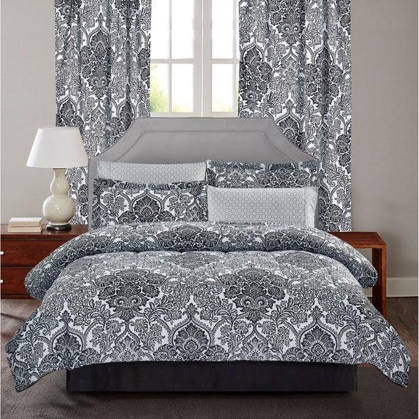 Brown & Grey™ Bingham 8-Piece Bed-In-Bag Set
