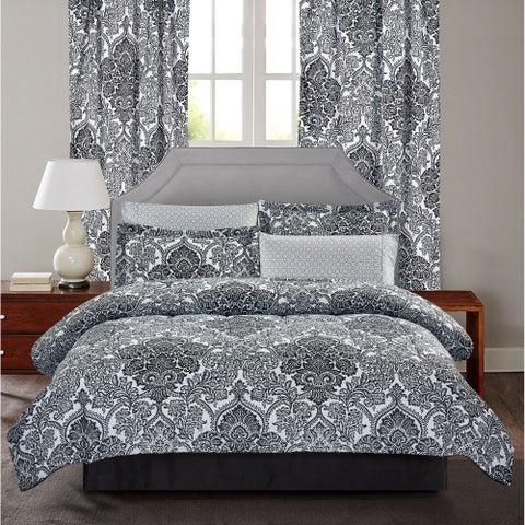 Brown & Grey Bingham 8-Piece Bed-In-Bag Set