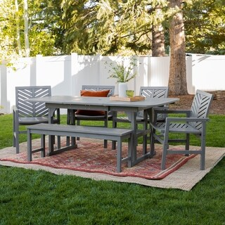 Havenside Home 7-piece Outdoor Extension Dining Set