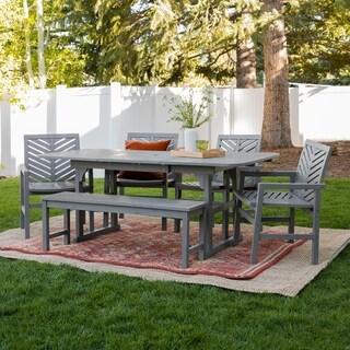 Havenside Home Hydaburg 7-piece Outdoor Extension Dining Set