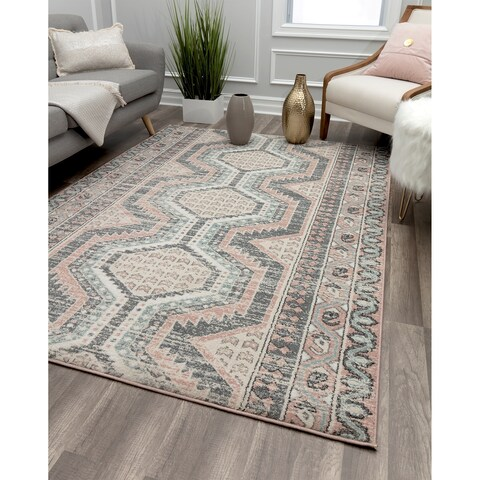 Stone Grey Vintage Transitional Rug