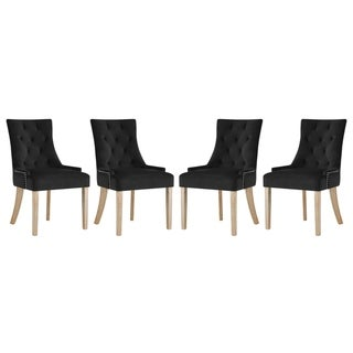 Link to Copper Grove Vodice Velvet Dining Chair (Set of 4) Similar Items in Dining Room & Bar Furniture