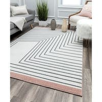Lines Contemporary Geometric Rug