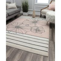 Petals Sketch Contemporary Geometric Rug