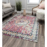Talia Pink Contemporary Geometric Rug