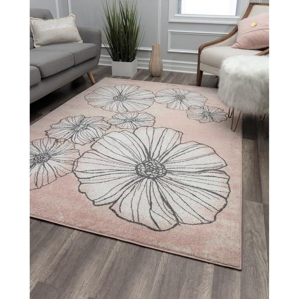 Blossoms & Petals Contemporary Geometric Rug
