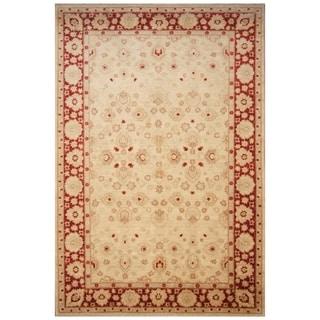 Handmade Vegetable Dye Oushak Wool Rug (Afghanistan) - 8'7 x 12'8