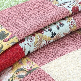 Cozy Line Lowery Patchwork Reversible Cotton Quilt Set
