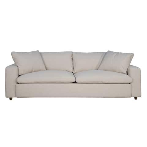 Loft Contemporary Sofa In Trillium Fabric Caitlix Flax