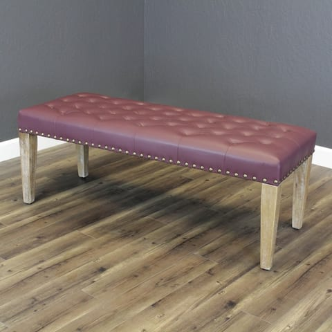Tiva Faux Leather Bench