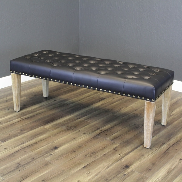 Tiva Faux Leather Bench. Opens flyout.