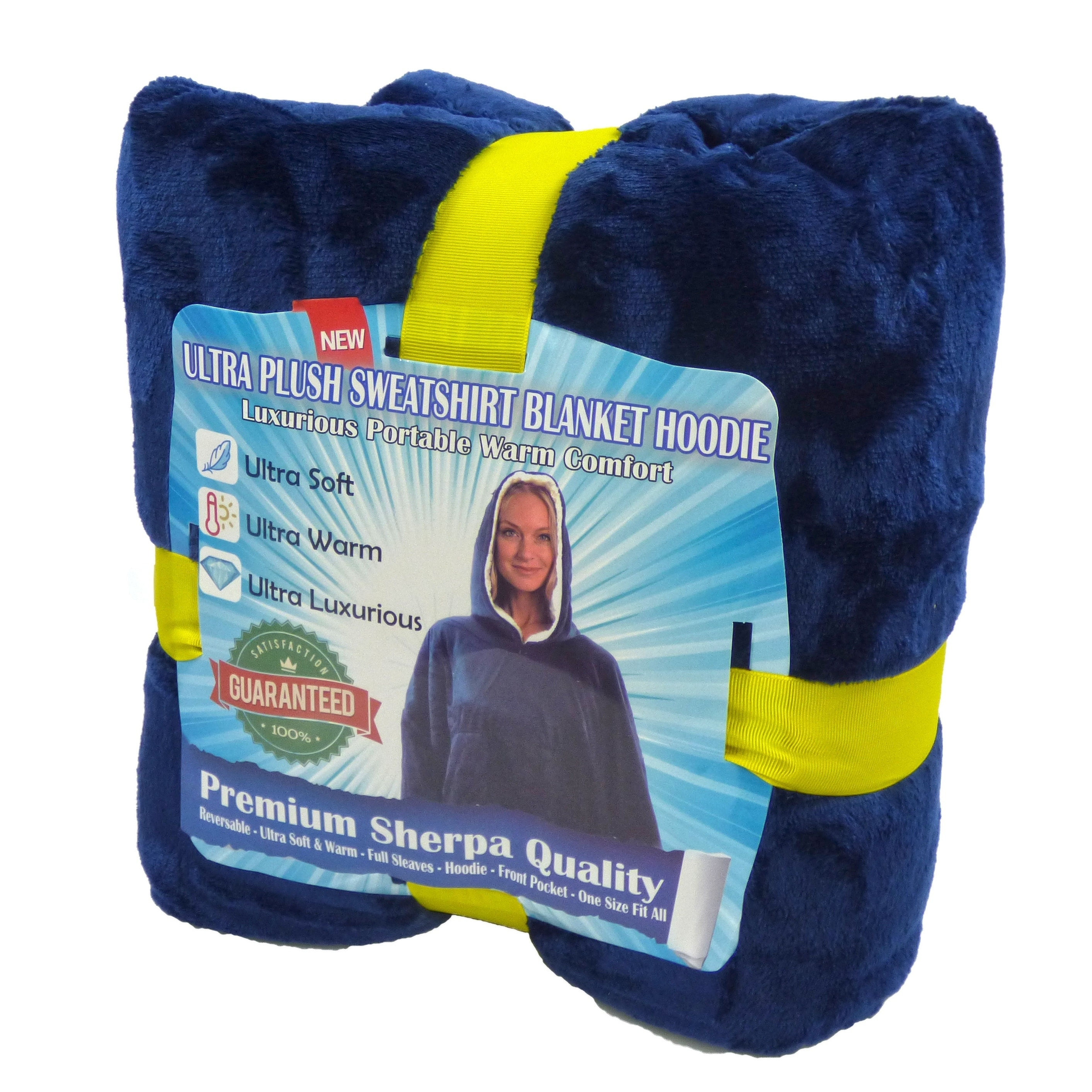 Hoodie Blanket Oversized Ultra-Plush Comfy Sherpa-Revisible Sweatshirt Blanket