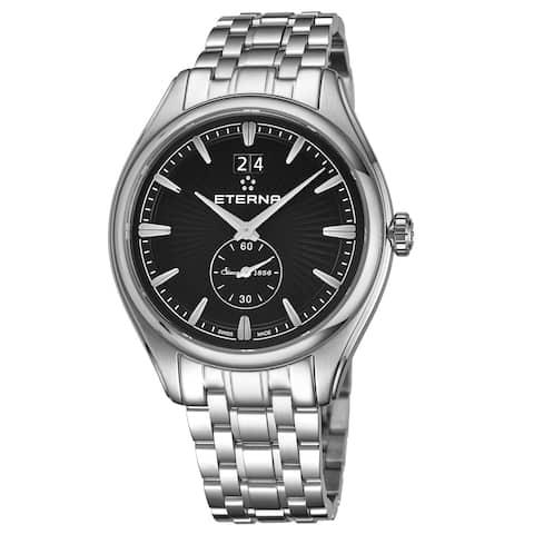 Eterna Men's 2545.41.40.1715 'Avant Garde' Black Dial Stainless Steel Small Seconds Quartz Swiss Made Watch
