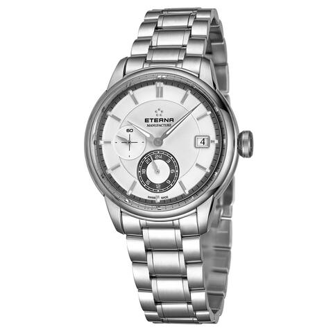 Eterna Men's 7661.41.66.1702 'Adventic' Silver Dial Stainless Steel GMT Automatic Watch
