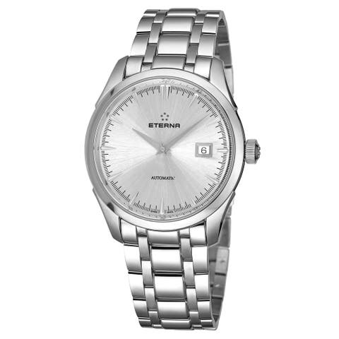 Eterna Men's 2951.41.10.1700 'Eternity' Silver Dial Stainless Steel Automatic Swiss Made Watch