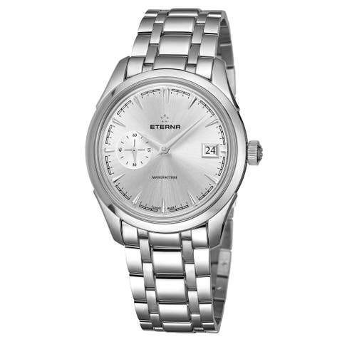 Eterna Men's 7682.41.10.1700 'Heritage' Silver Dial Stainless Steel Small Seconds Automatic Swiss Made Watch