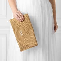 Bride Straw Envelope Clutch