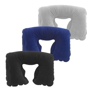 Miami Carry On Inflatable Neck Pillow with a Flocking Surface