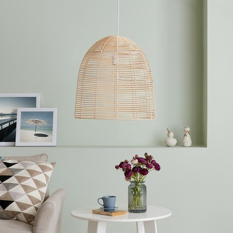 The Curated Nomad Eclectic Rattan Pendant Light