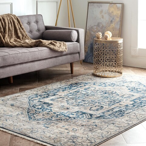 Porch & Den Firestone Fancy Medallion Border Area Rug