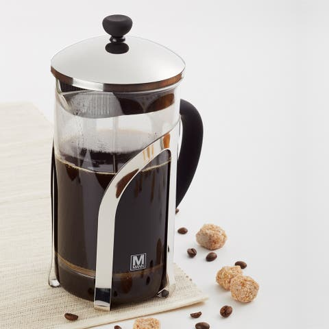 French Press Coffee Maker Percolator Pot,1000ml/1L Clear,Insulated