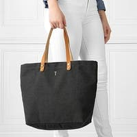 Personalized Black Washed Canvas Tote