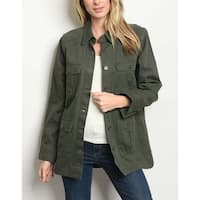 JED Women's Cotton Olive Military Jacket