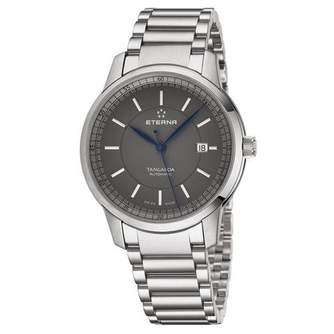 Eterna Men's 2948.41.51.0277 'KonTiki' Grey Dial Stainless Steel Automatic Swiss Made Watch