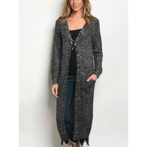 JED Women's Marled Knit Long Cardigan