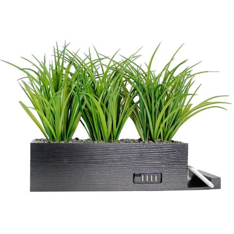 4-Port USB Charging Station Power Plant Artificial Grass Charging Station by MinxNY