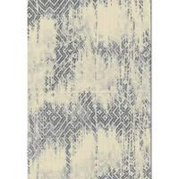 Grey Abstract 2x3 Rug - 2' x 3'