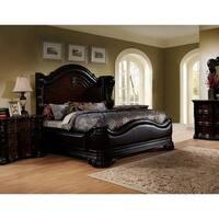 Best Master Furniture Walnut Panel Upholstered Bed