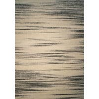 White Abstract 2x3 Rug - 2' x 3'