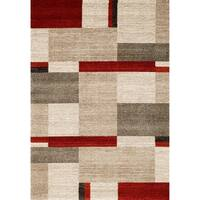 Red Abstract 2x3 Rug - 2' x 3'