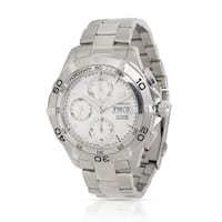 55e2f5dc1aa Pre-Owned Tag Heuer Aquaracer CAF2011.BA0815 Men s Watch in Stainless Steel