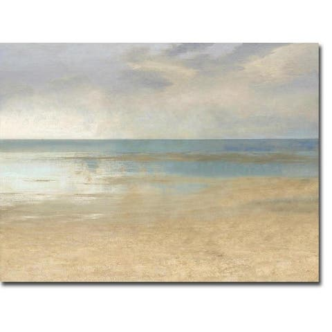 Pastel Seascape I by Christy McKee Gallery Wrapped Canvas Giclee Art (24 in x 32 in, Ready to Hang) - 24 x 32