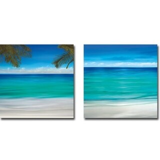 Paradise I & II by Jennifer Bailey 2-piece Gallery Wrapped Canvas Giclee Art Set (Ready to Hang)