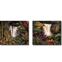 Sacred Pool I & II by Rodolfo Jimenez 2-piece Gallery Wrapped Canvas Giclee Art Set (Ready to Hang)