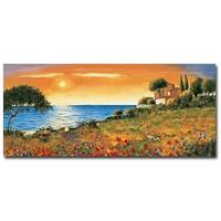 Sunlight Coast by Richard Leblanc Gallery Wrapped Canvas Giclee Art (11 in x 28 in, Ready to Hang)