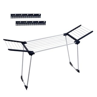 Drynatural Gullwing Laundry Drying Rack Suitable for Bathtub, Foldable, Steel, Portable Clothes Drying Rack Drying