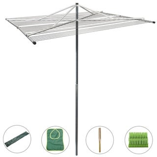 Drynatural Outdoor Umbrella Clothesline Large Collapsible 4-arm Parallel Clothes Drying Rack