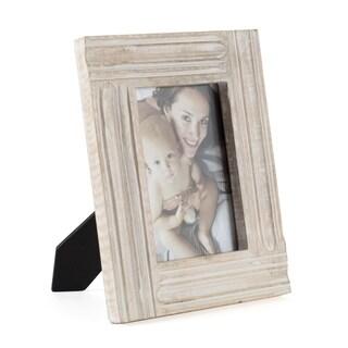 """Imola White Wood Frame 5""""X7"""""""